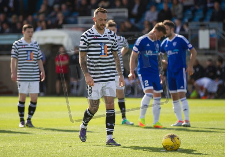 Queen's Park's Darren Miller prepares to take a penalty during the Ladbrokes League One game between Peterhead and Queen's Park.