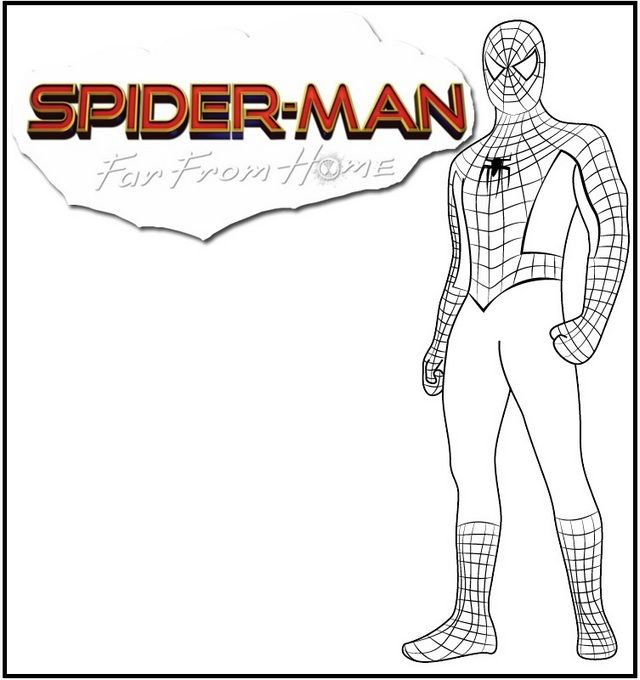 Spider Man Far From Home Coloring Page Spiderman Coloriage Activite Manuelle