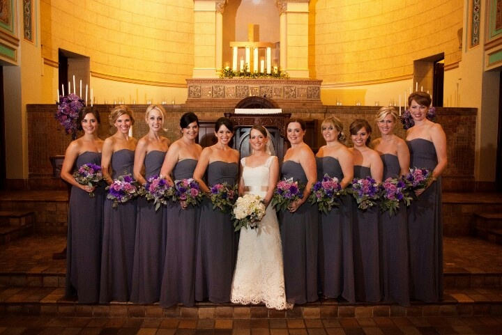 13 best bridesmaid colour theme images on pinterest for Charcoal dresses for weddings