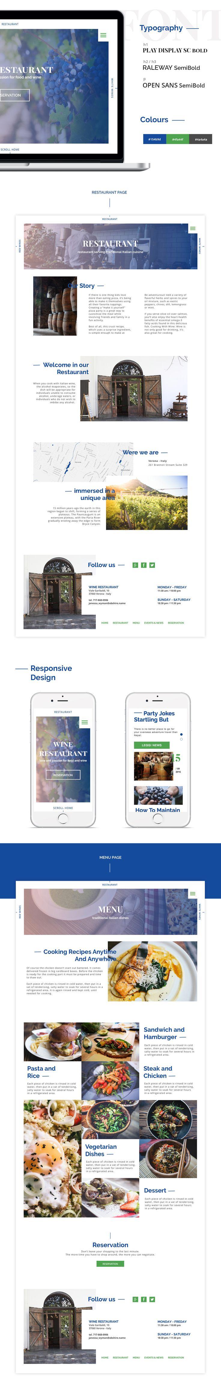 #webdesign concept for a #restaurant