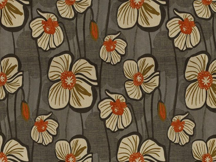 Flower Power Moonglow fabric, reminds me of Hawaii!  Just one of the many fun fabrics by England Furniture.