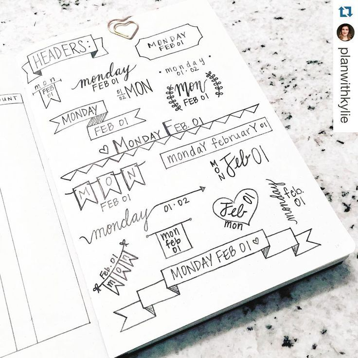 """""""Need a little #header or #banner inspiration? Check out this post from @planwithkylie. Lots of breast ideas@to inspire your #dailies. ・・・ Headers!  --…"""""""