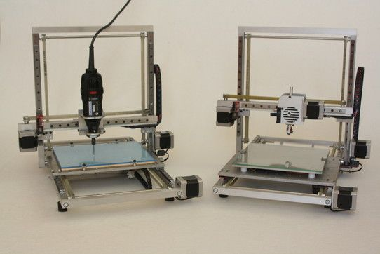 SAPIENS en modo impresora y modo fresadora