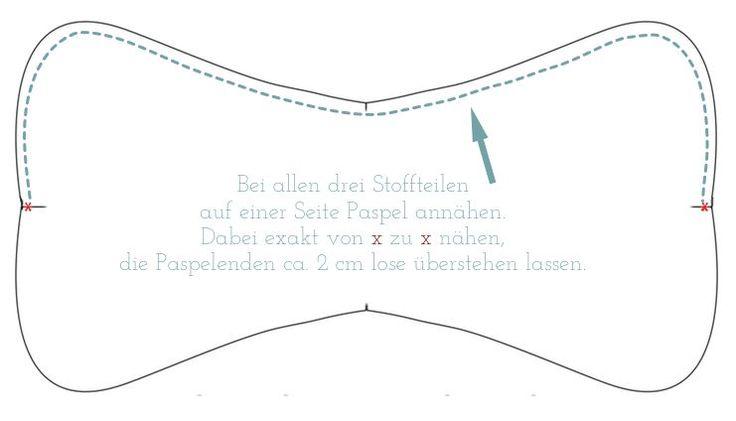 Schneiderherz: Tutorial: Paspel für den Leseknochen