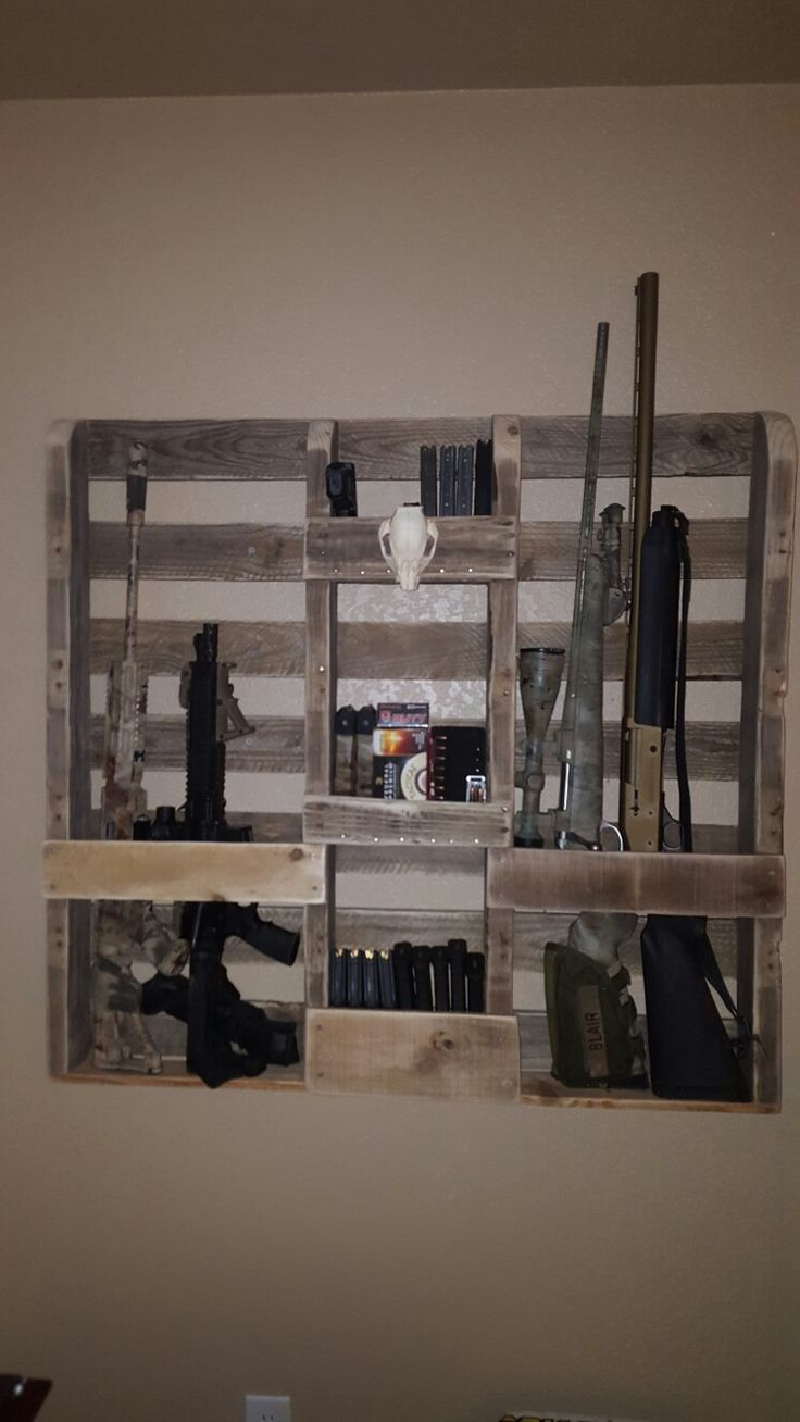Pallet gun rack                                                                                                                                                     More