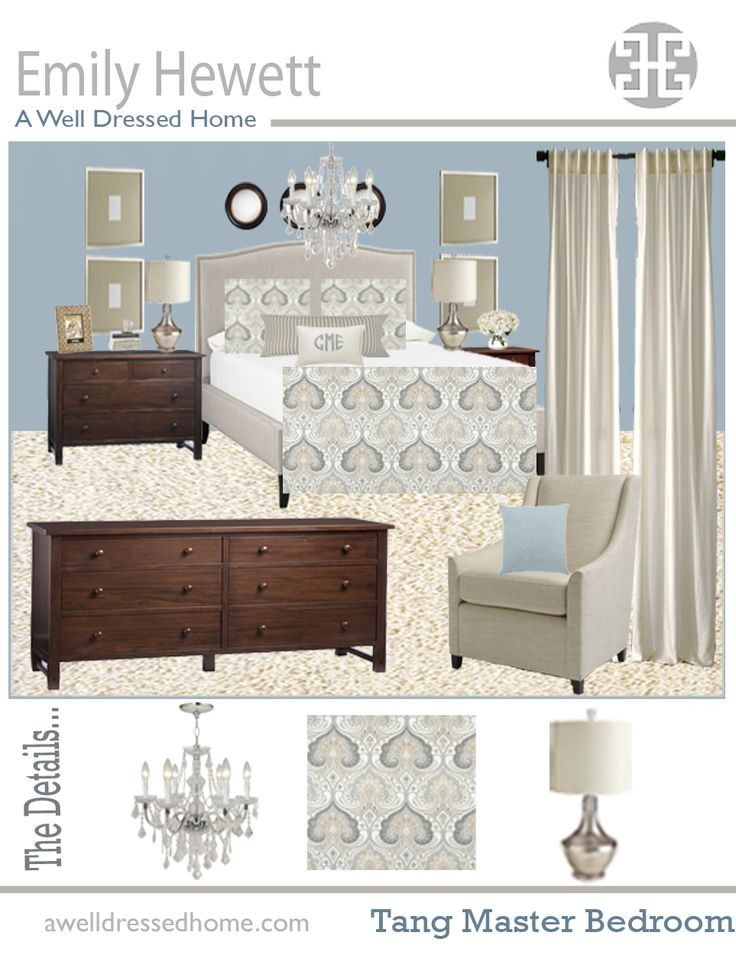 master bedroom online design board by emily hewett of a well dressed home