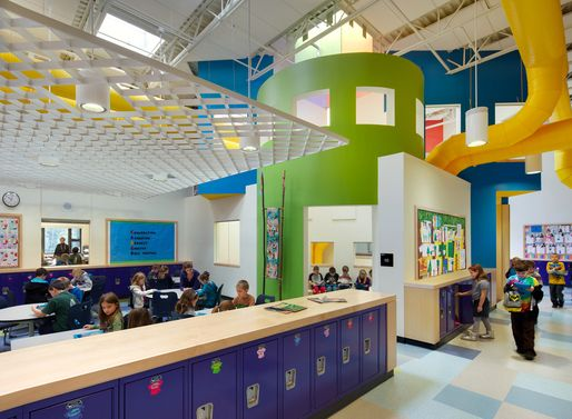 Innovative Classroom Storage : Christa mcauliffe es architect hmfh architects