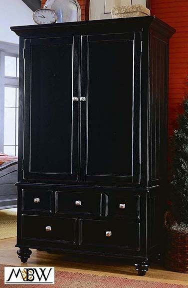 distressed+furniture Distressed Black TV Entertainment Armoire
