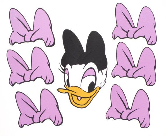 Pin the Bow on Daisy Duck Themed Party Game by ScrapsToRemember                                                                                                                                                      More