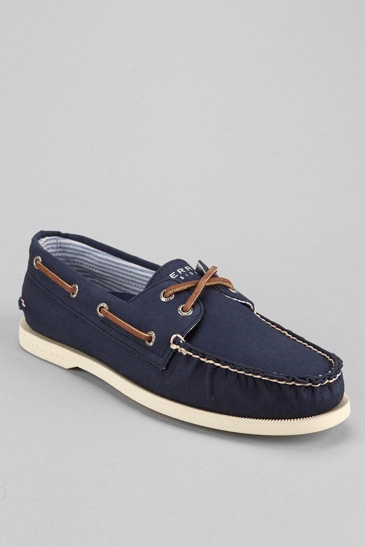 Urban Outfitters - Sperry Top-Sider 2-Eye Canvas Boat Shoe men's style shoes
