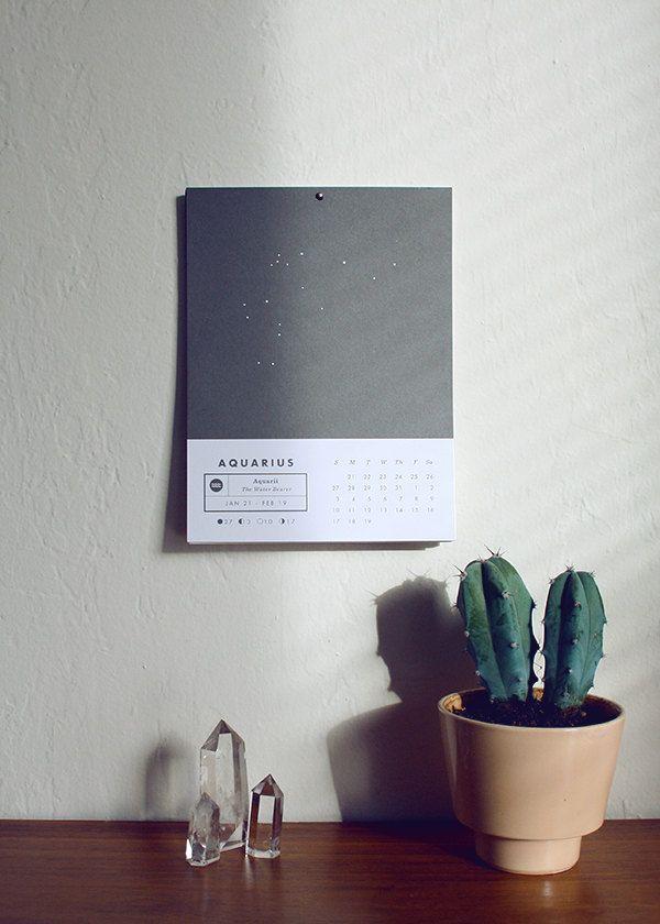 2013 Astrology Wall Calendar. $20.00, via Etsy.