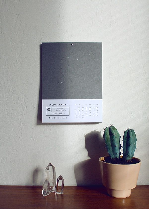2013 Astrology Wall Calendar by Prismatic Print Shop via Etsy.