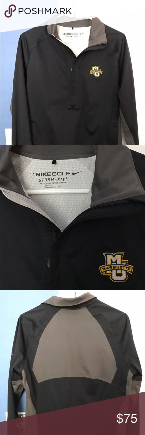Men's Marquette University NIKE Storm Fit Rainsuit Men's SMALL black Nike waterproof rain jacket and pants. Like new condition. Great for the links or if you have to be out in the rain for a time period. Nike Jackets & Coats Raincoats