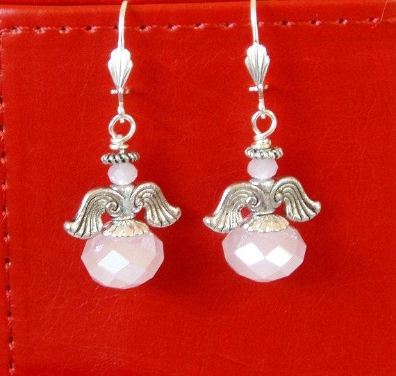 Breast Cancer Survivor Guardian Angel Drop by rosepetalsjewelry, $10.00