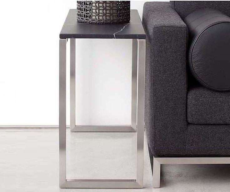 """18KARAT Steel 33""""x12"""" Side Table from Schreiter's"""