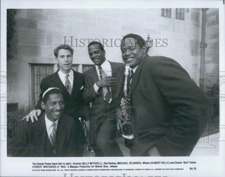 """1988 Press Photo Billy Mitchell Hubert Kelly & Forest Whitaker in """"Bird"""""""