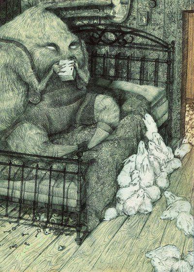 #entrancement #key #trance #bunny #delirium #magic #mistery #rabbit #room #secret #skull #terror #art