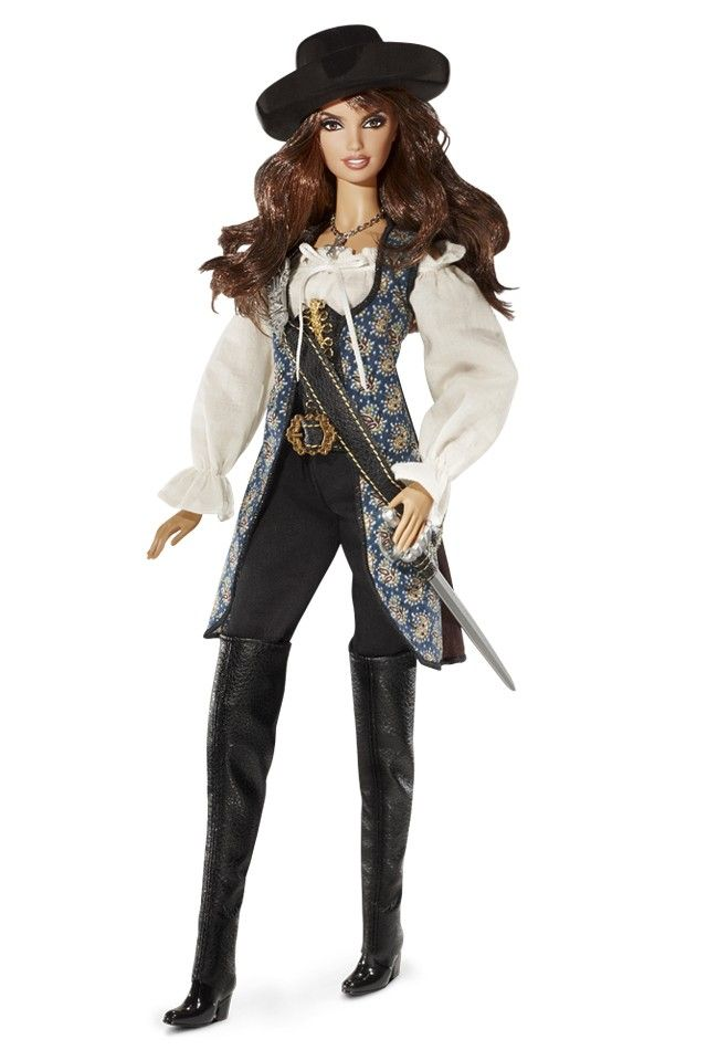 barbie collector | Barbie - Piratas do Caribe Angelica e Jack Sparrow 2011