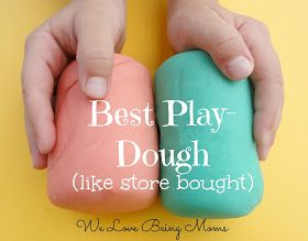 We Love Being Moms!: 10 Homemade Play-dough Recipes