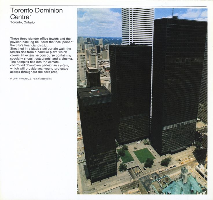Ludwig Mies van der Rohe's TD Centre in Toronto.
