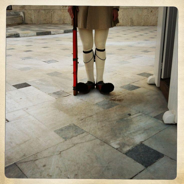 Fancy footworks. Athens, Greece, June 2013