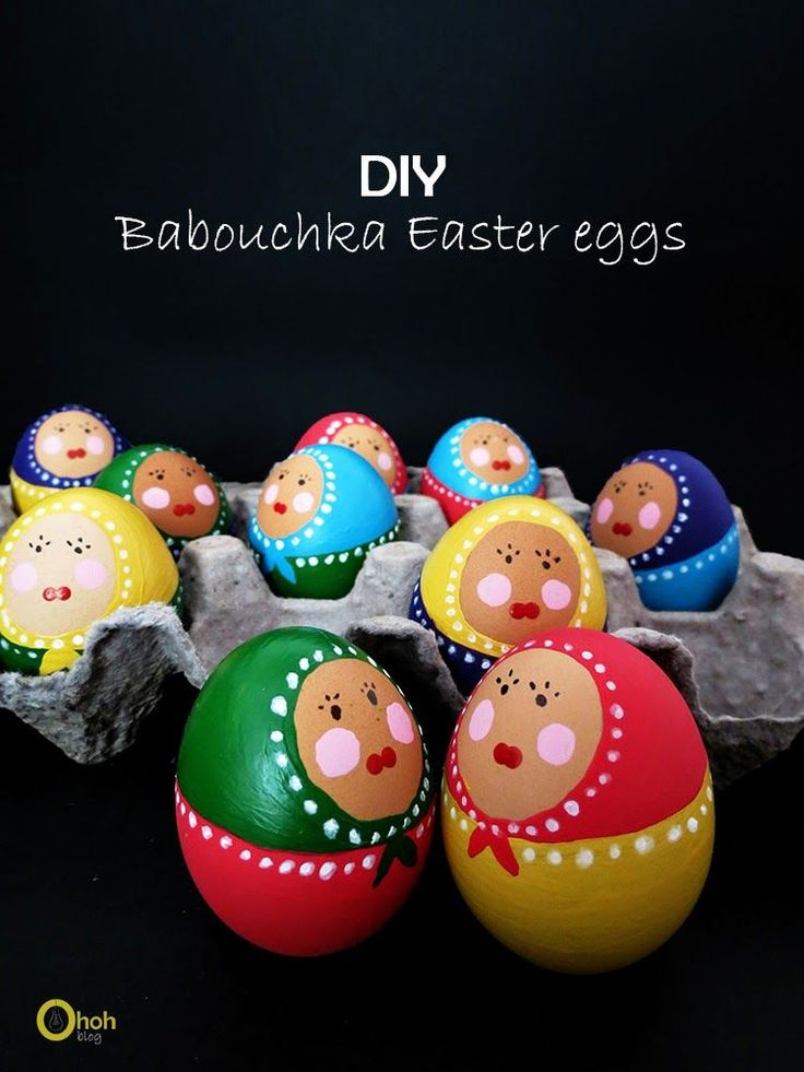 Babouchka Easter eggs | Ohoh Blog - diy and crafts
