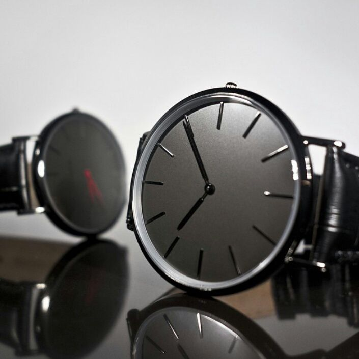Relojes black band male clocks 2016 design china professional watch producer…