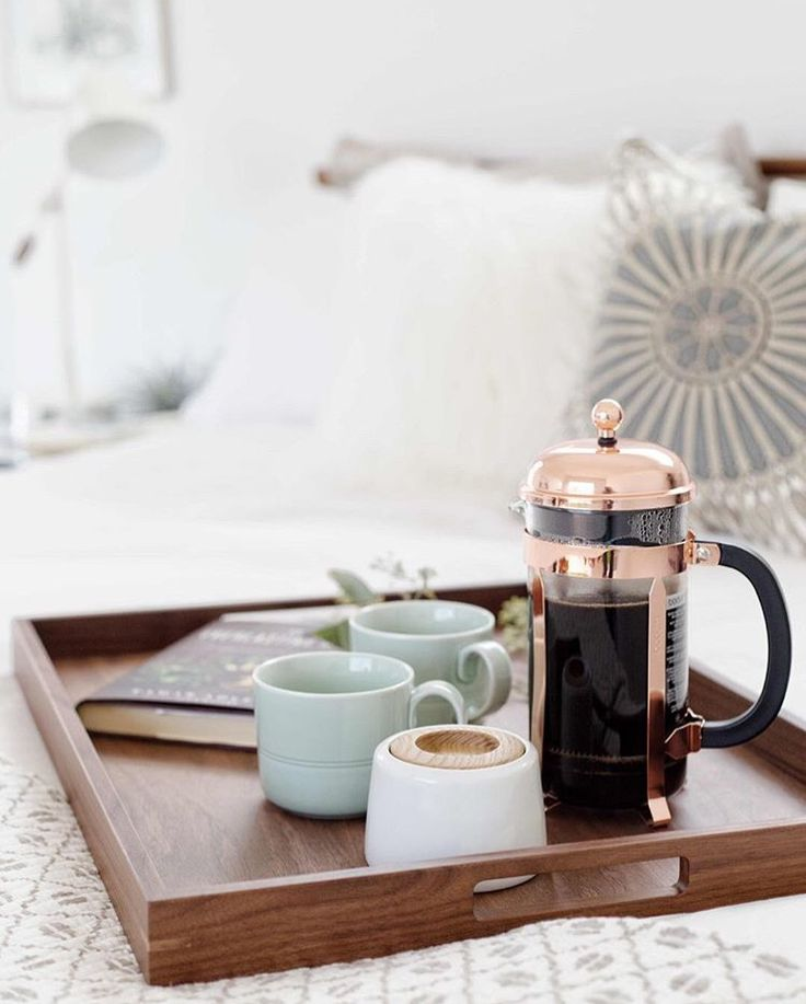 Leave French press set in guest room with instructions