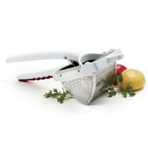 DELUXE JUMBO POTATO RICER http://www.coast2coastkitchen.com/store/specialty-kitchen-tools/fruit-and-vegetable--/deluxe-jumbo-potato-ricer-