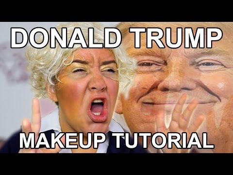 DONALD TRUMP MAKEUP TUTORIAL - YouTube >>OMFG IM CRYING