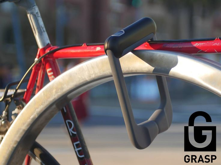Biometric bicycle lock that reads your fingerprint and locks in one second. Easier, Faster, and more Secure.