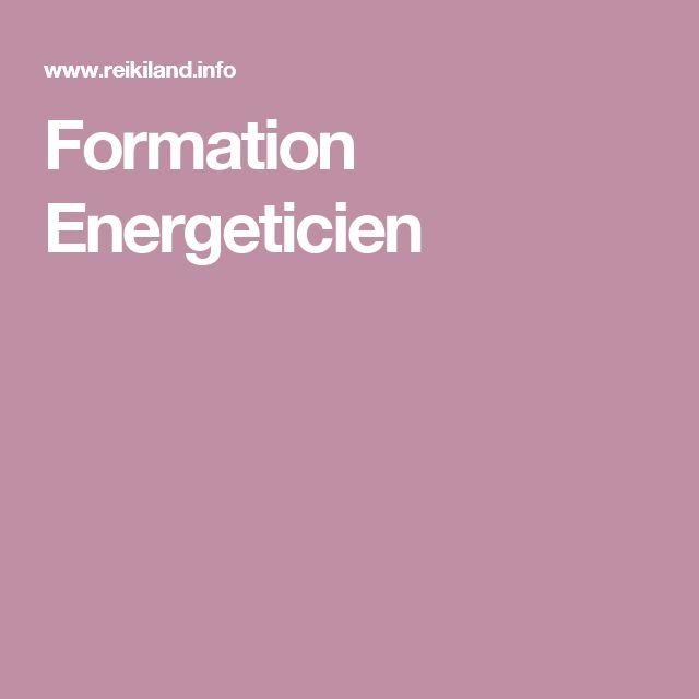 Formation Energeticien