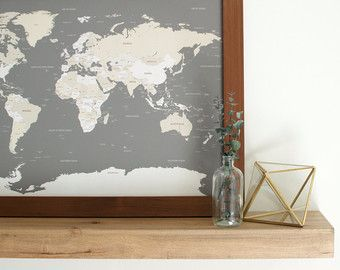 The 25 best framed world map ideas on pinterest world map with office artwork idea gumiabroncs Images