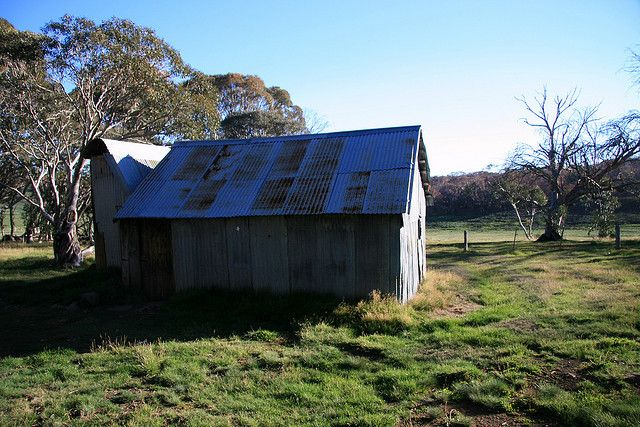 The Howitt Plains Hut on top of the Howitt High Plains in North East Victoria.