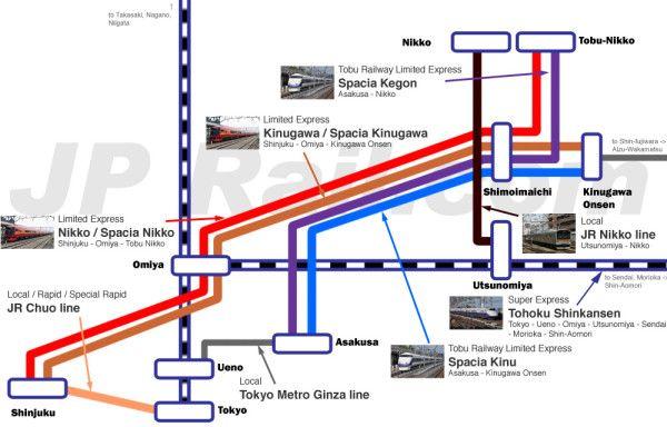 Nikko Access Map Click To Enlarge Reisen Japan Und Geplant