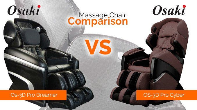 Comparing the Osaki OS-3D Pro Cyber and the Osaki OS-3D Pro Dreamer for you to see their similarities along with their few differences.   Massage Chair Planet   Massagechairplanet.com    Massagechairplanet
