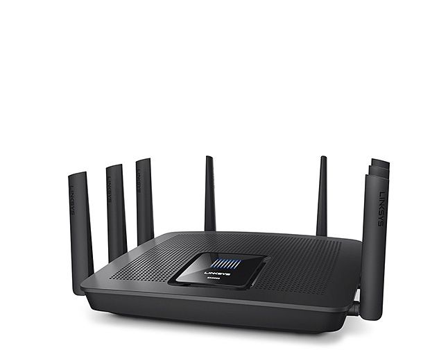 Linksys EA9500 MU-MIMO Tri-Band Router -- The best & fastest routers on the market today are equipped with these two new technologies: tri-band AC5400 and MU-MIMO. Yes, jargon! The important thing to know is that they result in full bandwidth wi-fi speeds up to 5334Mbs. Psycho fast. The other thing to know is that Linksys just packed both of these technologies into their new EA9500 model router for a very nice price. $399
