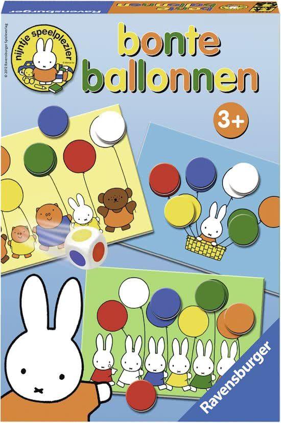 Ravensburger nijntje bonte ballonnen - leerspel