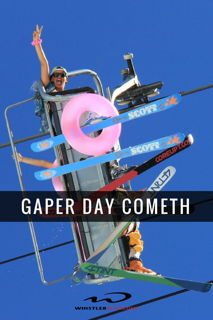 Get your Hawaiian shirts ready, gaper day is the farewell to the ski season and is always a good time. Click on the image to learn about what to expect on the last day of the season.