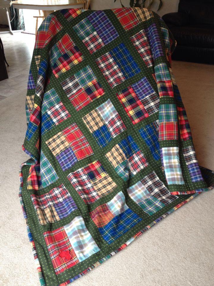 Cozy plaid flannel quilt