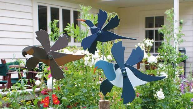 Butterfly Purple Mini Whirligigs Whirligig Windmill Yard Art Hand from wood