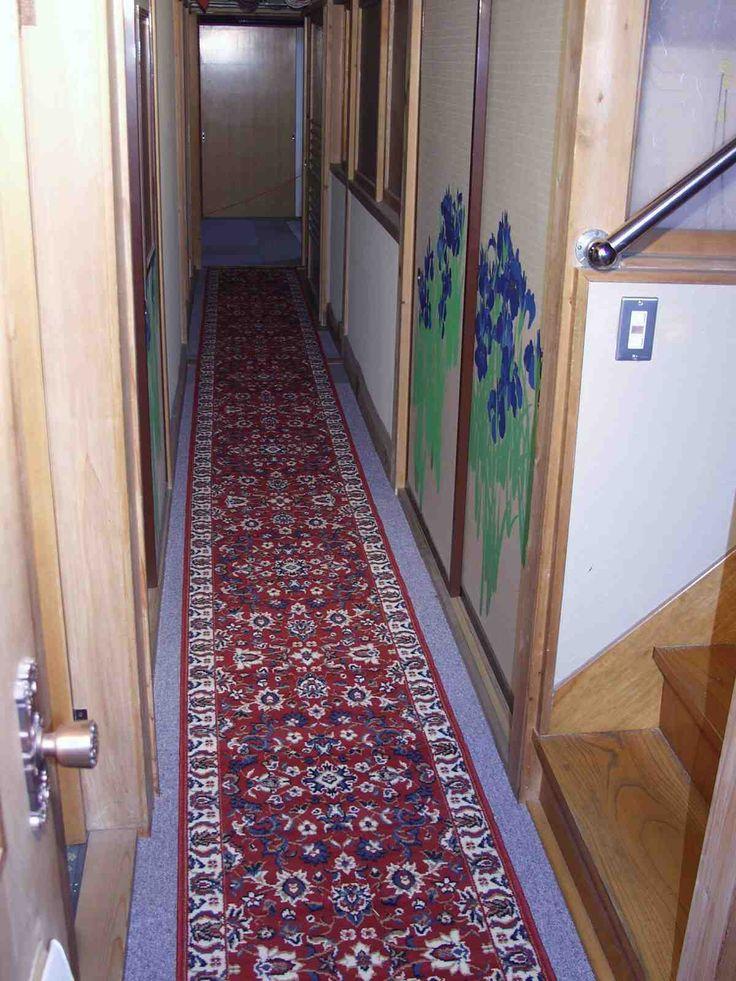 中廊下 寒対策 絨毯敷 7.更に廊下用幅60Cmの長い絨毯を敷いて完成
