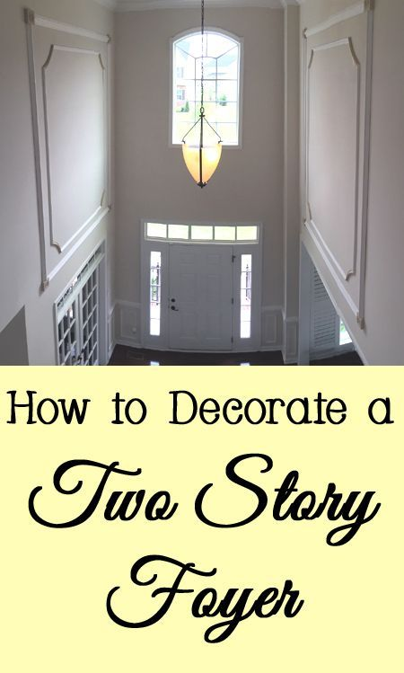 If your foyer or entryway has a very tall ceiling, decorating it may seem daunting.   Here are a few tips and tricks for decorating your two story foyer.