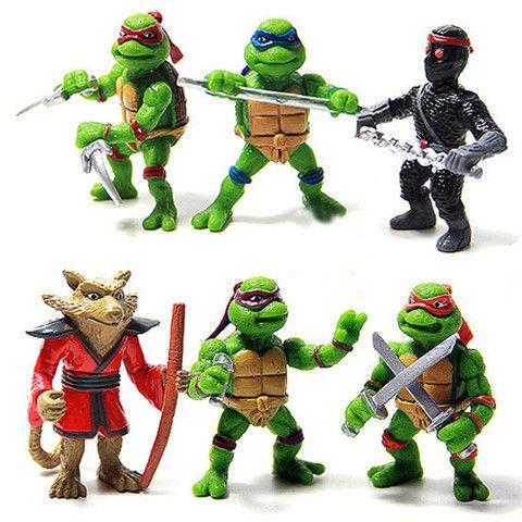 6 pcs/set Teenage Mutant Ninja Turtles Action Figures Toy Set