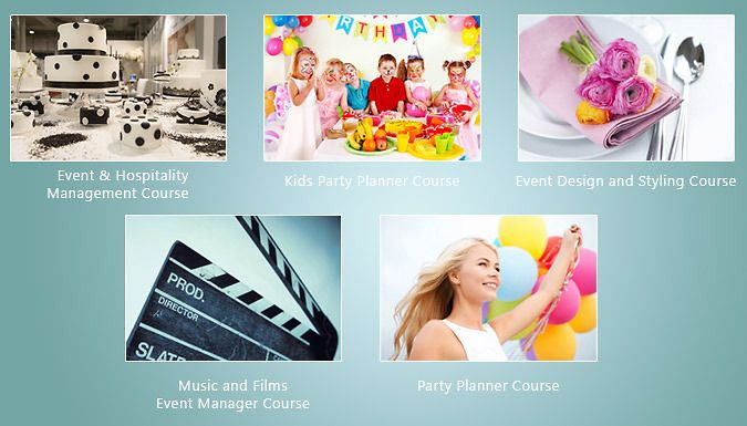 Buy Online Course Bundles by Eventrix for just £19.00 Start a career in events management with one or more Online Course Bundles by Eventrix      You can choose 1, 2 or 5 courses to learn all about the business sector      Study kids' parties, events and hospitality, design and styling of events      Party planning and music and film event management courses also available      Courses...