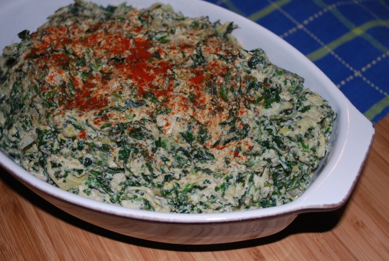 The BEST spinach and artichoke dip, vegan or otherwise. The unhealthiest ingredient is cashews.