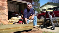 Building a residential home wooden ramp for entry into house with steps.  utube video how to do.