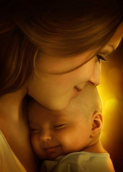 such a sweet, beautiful picture of Mother and child.