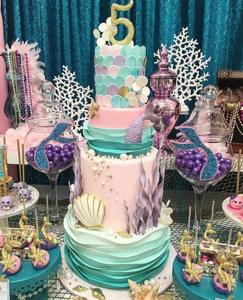 Mermaid Birthday Cake Birthdays Pinterest Mermaid