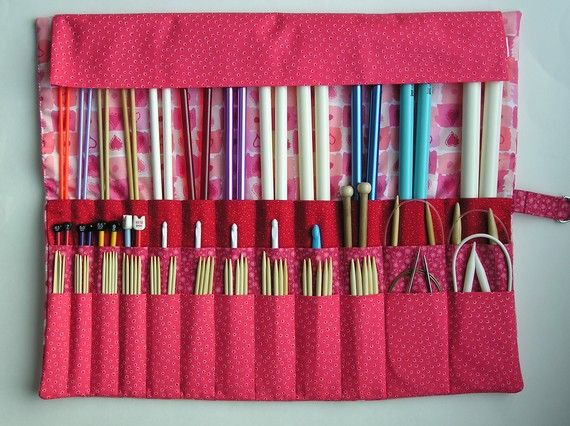 Knitting Needle Storage Case Pattern : Knitting needle holder pattern knit love valentine s